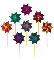 Rainbow Sparkle Pinwheel Wind Spinner for Kids - Assorted Colors