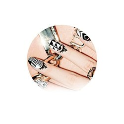 CUTITOOS Cuticle Tattoos Nail Art Stickers Temporary Water Transfer Nail Polish Art Decals - Elongate Your Manicure with Decoration of Fingernails - Excellent for Manicurists to Add Another Service for Your Clients - Perfect for Birthday, Bridal Shower, B