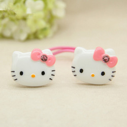 Hello Kitty 10-Piece Hair Ties for Girls - Assorted Color
