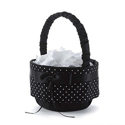 Hortense B. Hewitt Wedding Accessories Polka Dot Flower Basket