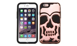 Insten Skullcap Dual Layer Case for Apple iPhone 6/6s Plus - Gold/Black