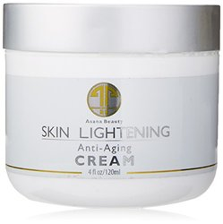 Asana Beauty Products Natural Skin Lightening Cream Huge 4oz-Brightening Lotion To Improve Skin Discoloration, Melasma, Hyperpigmentation, Age & Dark Spots-Best Whitening & Bleach Mask-Skin Lightener, 120ml