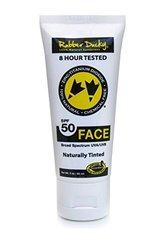 Rubber Ducky Sunscreen SPF 50 Naturally Tinted Face Sunscreen Tube, 2 oz