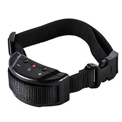 Zacro DC293 Dog No Bark Collar for Bark Control with 7 Levels Adjustable Sensitivity Control, Electric Anti Bark Shock collar for 15-120 Pounds Dogs, No Harm Warning Beep and Shock