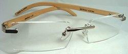 Bamboo Rimless Reader Glasses by Georgio Caponi (+2.25)