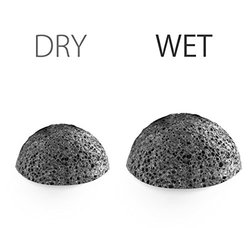 Konjac Sponge & Silicone Brush for Facial Suction Hook Include - 3 Pack
