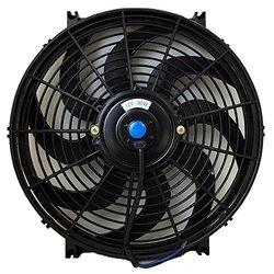 12V Slim Electric Cooling Radiator Fan w/ Fan Mounting Kit (14 Inch Black)