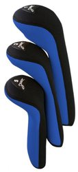 Stealth Piece Headcover Set- Piece Set-Royal 3, black, 3