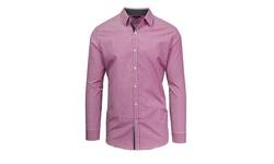 Men's Slim Fit Plaid Woven Shirt - Red/White Mini Check - Size: Small