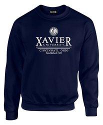SDI NCAA Men's Xavier Musketeers Seal Sweatshirt - Black - Size: XL