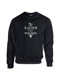 SDI NCAA Xavier Musketeers Stacked Vintage Sweatshirt - Black - Size: M