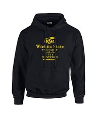 SDI NCAA Men's Wichita State Vintage Hoodie - Black - Size: M