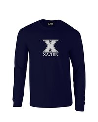 SDI NCAA Xavier Musketeers Mascot Foil T-Shirt - Navy - Size: XX-Large
