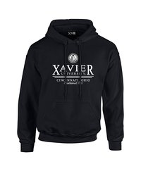 SDI NCAA Xavier Musketeers Classic Seal Hoodie - Black - Size: Medium