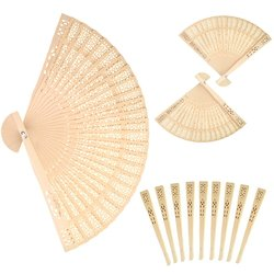 Outop Sandalwood Fan Party Favor - Set of 48