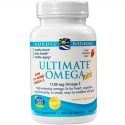 Nordic Naturals Ultimate Omega Mini Support for Healthy Heart 60 Soft Gels
