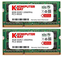 Komputerbay 16GB Dual Channel Kit 2x 8GB DDR3-1066 RAM for Apple