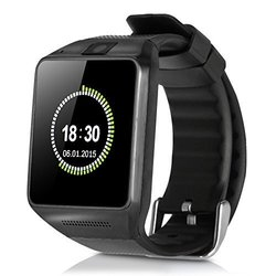 iRULU Bluetooth Touch Screen Smart Watch SIM Insert Phone - Mate Black