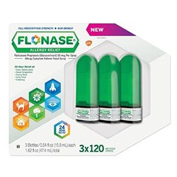 Flonase Allergy Relief Nasal Spray (Pack of 3 (120 ct ea))
