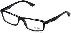 Ray-Ban Men's Rectangular Eyeglasses - Shiny Black - 54 mm