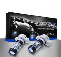 OPT7 CREE Series LED DRL Fog Light Bulbs - Bright White - Pack of 2