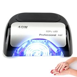 Lumcrissy 48W Diamond Shaped CCFL & LED UV Nail Dryer - Black