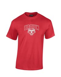SDI NCAA Brown Bears Mascot Foil Short Sleeve T-Shirt - Red - Size: XL