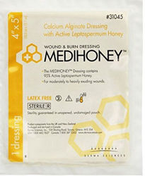 Derma Sciences 3 Pack Medihoney Calcium Alginate Wound Dressings