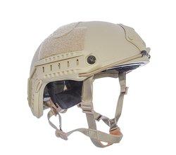 HHV ATE Ballistic Lvl IIIa Protection Helmet - Tan - Size: Medium/Large