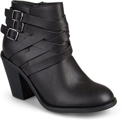 Journee Collection Women's Multi Strap Boots - Black