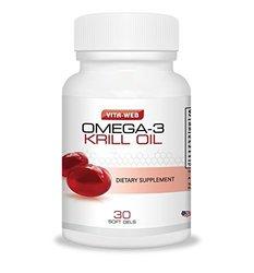 Vita Web Super Omega-3 Krill Oil Dietary Supplement - 30-Soft Gels