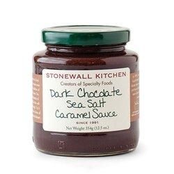 Stonewall Kitchen Sauce Sea Salt Caramel 12.5 Ounce - Dark Chocolate