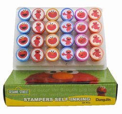 Stream Street Elmo Party Favors 10 Stampers - Assorted Color