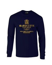 NCAA Marquette Golden Eagles Stacked Vintage Long Sleeve T-Shirt, Large, Navy