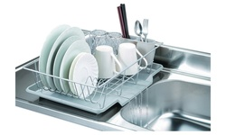 Bed Bath N More Dish Drainer Set - Silver - 3-Piece