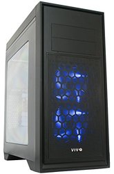 """Vivo """"titan"""" Atx Mid Tower Computer Enthusiast Gaming Pc Case Black With Window/ 5 Fan Mount, USB 3.0 (case-v05)"""
