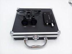 Aphrodite 3.5x 420mm Surgical Binocular Loupes - Aluminum Box - Black