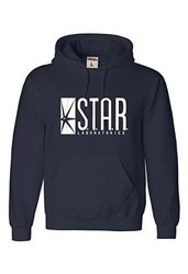 Go All Out Men's Adult Star Labs Sweatshirt Hoodie - Navy Blue - Size: XL