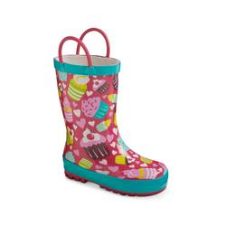Toddler Girl's Cupcakes Rain Boots - Multicolor - Size: 7-8