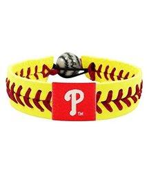 MLB Philadelphia Phillies Neon Yellow Team Color Baseball Bracelet