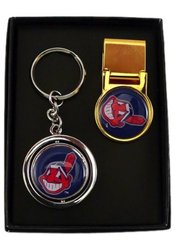 Aminco Cleveland Indians Sports Fan Pack Key Chain - Two Piece