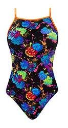The Finals Women's Rose Bud Flutter Back Swimsuits - Black- Size: 24