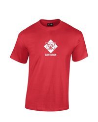 NCAA Mascot Foil Short Sleeve Tee - Davidson Wildcats - Red - XL