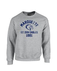 SDI NCAA Marquette Golden Eagles Mascot Block Sweatshirt - Grey - Size: L