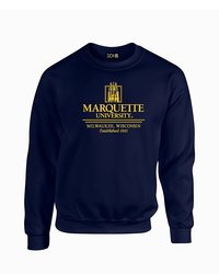 SDI NCAA Marquette Golden Eagles Classic Neck Sweatshirt - Navy - Size: S