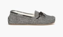Olive Street Women's Holiday Moc Slippers - Herringbone - Size: 5-6