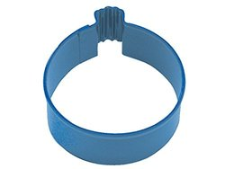 """CybrTrayd R&M Ornament Round 3"""" Cookie Cutter Polyresin Finish - Navy Blue"""