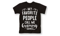 Lc Trendz Women's My Favorite People Call Me Grammy T-Shirt - Black - 2X