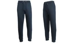 Galaxy By Harvic Men's Slim Fit Fleece Jogger Pants - Navy - Size: Medium