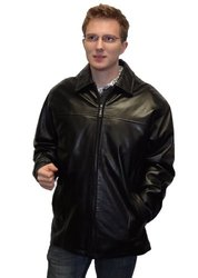Genuine Leather MAXXSEL New Men's Real Lamb Skin (James Dean Style) Jacket (M)